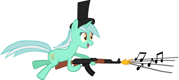Tophat Lyra with Musical AK-47 by sirtophatte