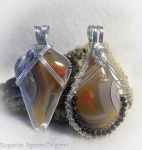 Matching Lake Superior Agate Minnesota Wire Wrapp by superioragates