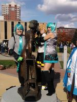 Vocaloid meets a statue. by PockyBoxxProductions
