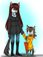 mother and daughter colored by Wendy-Alandra