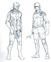 Soldier and Cop by Roalmeh