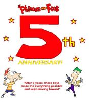 Phineas and Ferb: 5th Anniversary! by RocketSonic