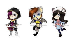 Set Chibi Commissions by RikkuHanari
