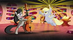 Power Triangle - Octavia and Derpy Wallpaper by smokeybacon