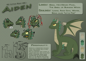 MLP OC - Aiden Reference Sheet by Polar59