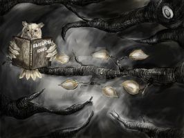 Owl in wood (Buhle) by TONO-Lamp