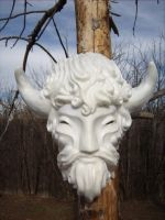 Buffalo Spirit anthropomorphized ( DIY mask blank) by RavenKing77