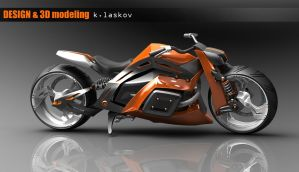 3D design motorcycle by konkon49