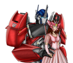 TFP Optimus Prime an Human Elita One (me) by Lady-ElitaOne