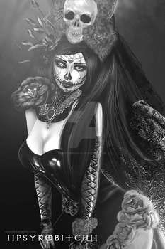 Los Muertos IMVU Black and white edit by MakeMeMagical