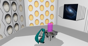 MMD Tardis Console Stage + DL by Valforwing
