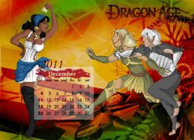 Dragon Age 2011 Calendar Dec by tankgirly