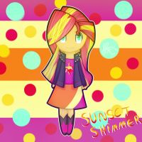 Chibi Sunset Shimmer by AppleJackS2