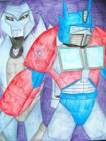 Optimus Prime and Megatron by still-a-fan