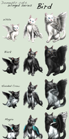 Adopt Cats -Winged series, Bird- by elen89