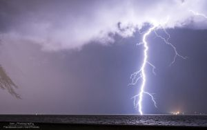 Lightning Strike at Maumee Bay State Park by XenPhotos