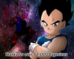 Thanks for 11,000 Pageviews by DarkAngelxVegeta