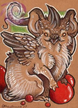 Lil Berry mouse gryph ACEO by Idlewings