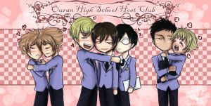 + ouran host club chibis by HostClub