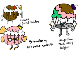 Cupcake Soilders by ask-kytothehero