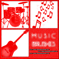 +Music BRUSHES/PINCELES. by SheWillBeFearless