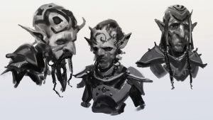 Goblin Head Sketches by medders