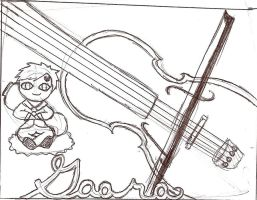 Gaara's Lovely Violin by Mega-multi1