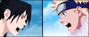 Collab: Naruto vs Sasuke by IITheDarkness94II