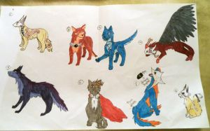 Assorted feline and canine sheet OPEN by XTwilight-SerenityX