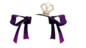 MMD NJXA Purple twin tie with crown  Download by 9844