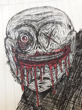 Bloody Face by ScattyMisfit