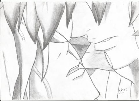 The Almost Kiss l Drawing by xtuzil