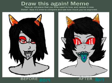 Terezi (Before And After) by AlchemyFox