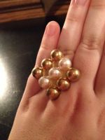 Diamonds and Pearls Ring by alienaviary