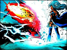 Cyclops vs Storm by edwards1206