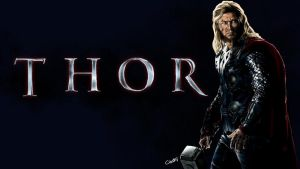 Thor Wallpaper by iamherecozidraw