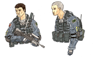 UNMC soldiers by halonut117