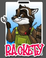 Rackety Badge by T-Tiger