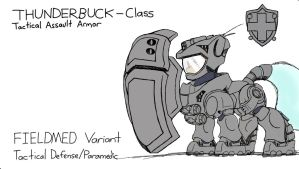 FIELDMED Variant - Thunderbuck Armor by DoomSp0rk
