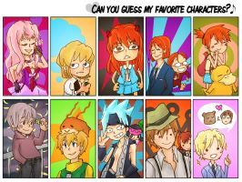 favorite characters meme :-B by turtledork