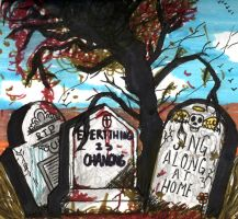graves and tree by YouCannotFalter