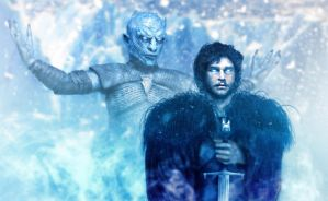 Night's King and Jon Snow by Smoke2007