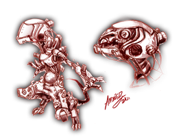 Cyborg-mouse thing by Andalar