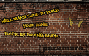 Brick by boring Brick by greywolfVII