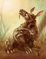 Zombie Aardvark by thedarkcloak
