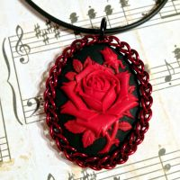 Half Persian Wrapped Cameo - Red Rose by Utopia-Armoury