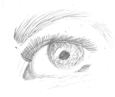 Eye sketch by BangieCreatorGirl