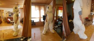 Rarity Fursuit WIP 27/8/2012 by FoxOFWar