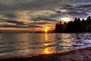 Sunset from Stanley Park - Vancouver by dif68
