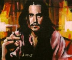 Johnny Depp ACEO by sullen-skrewt